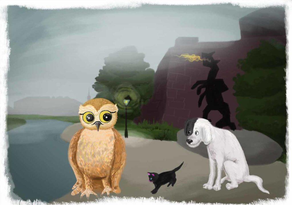 O smogu Wawelskim zwierzęta przy zadymionym smoku wawelskim