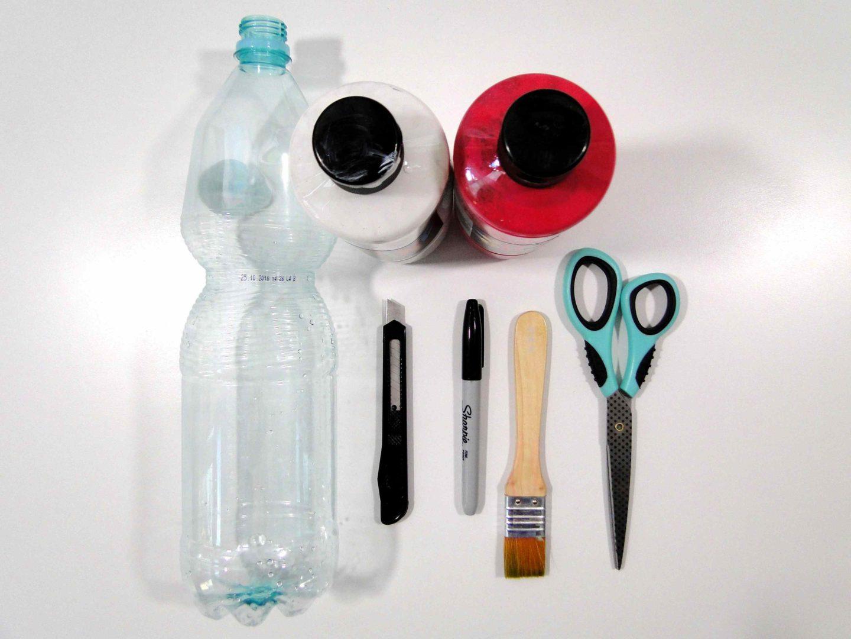 Butelka PET potrzbne matriały