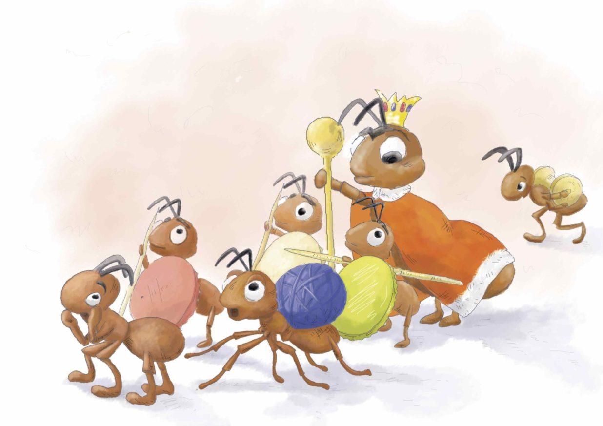 Mrówki wraz ze swoją królową