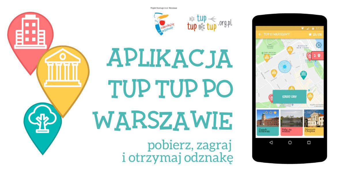 Aplikacja Tup tup po warszawie obrazek