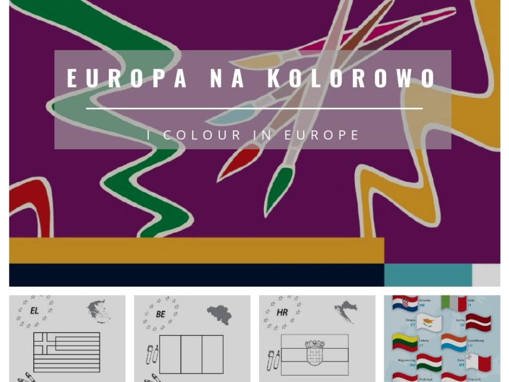 Europa na kolorowo – pobierz kolorowankę