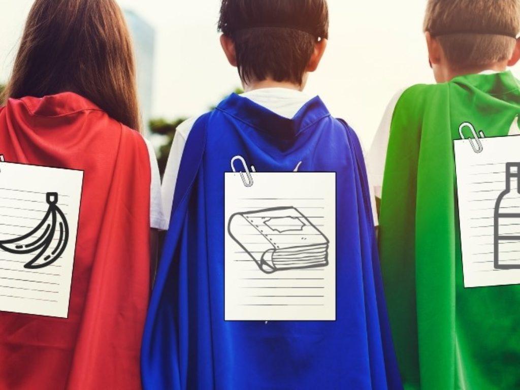 Super Bohater- Gra (nie)planszowa o segregacji śmieci i działaniach