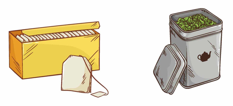herbata w woreczkach i herbata w metalowej puszcze