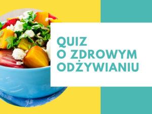 okładka quizu o zdrowym odżywianiu