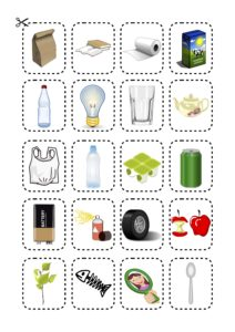 recycling matching cards