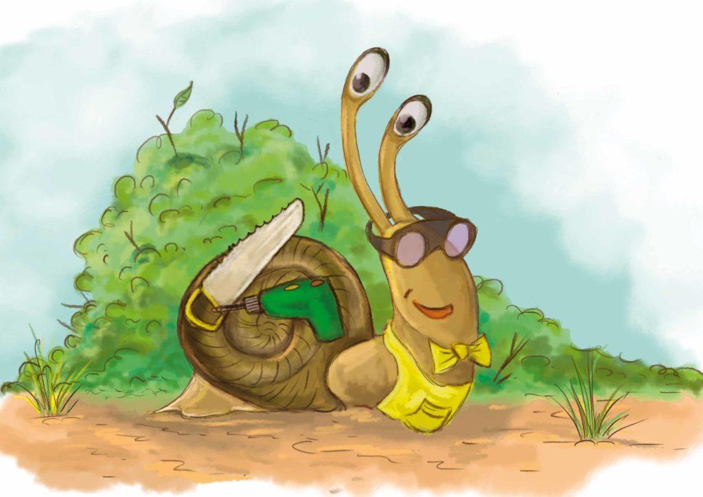 Uśmiechnięty ślimak Tyk