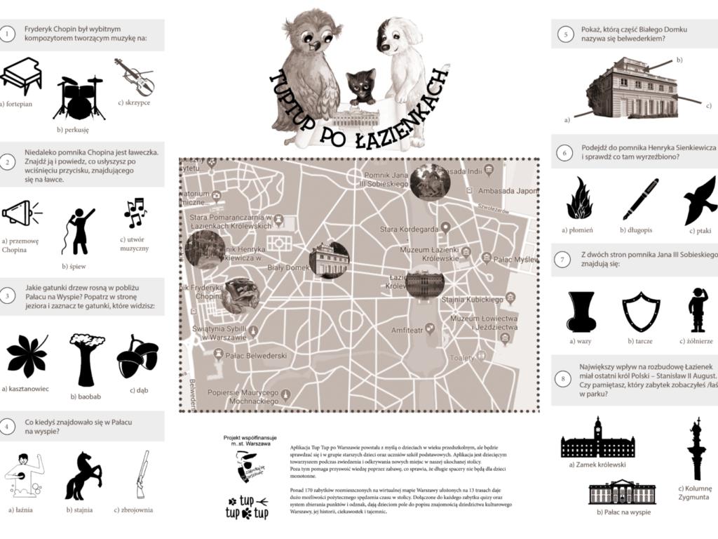 Mapy Warszawy dla dzieci