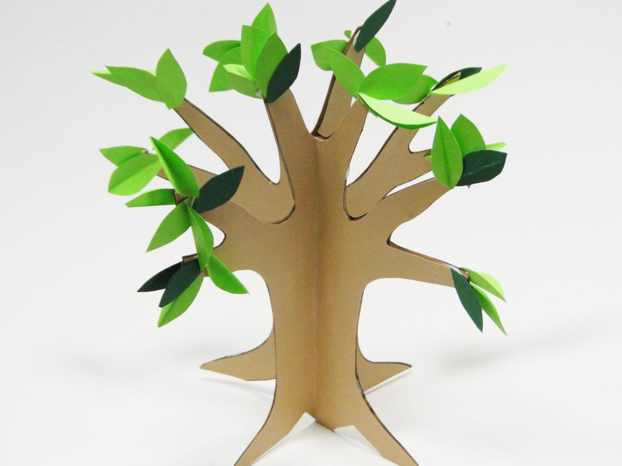 gotowe trójwymiarowe drzewko z papieru