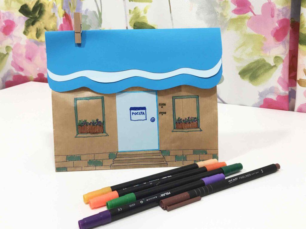 gotowy papierowy domek