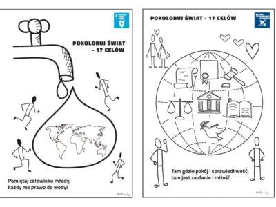 Kolorowanka o Celach Zrównoważonego Rozwoju